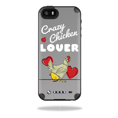 Skin Decal Wrap for Mophie Space Pack iPhone 5/5S Case Crazy Chicken Lover Wrap Case Pack