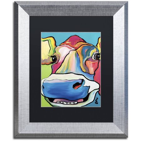 Trademark Fine Art  Dairy Queen  Canvas Art By Pat Saunders White  Black Matte  Silver Frame