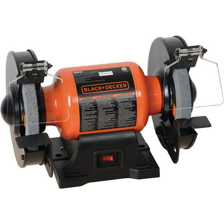 BLACK+DECKER 1.8-Amp 6-Inch Bench Grinder,