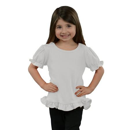 - MONAG Toddler Short Sleeve Ruffle Tee