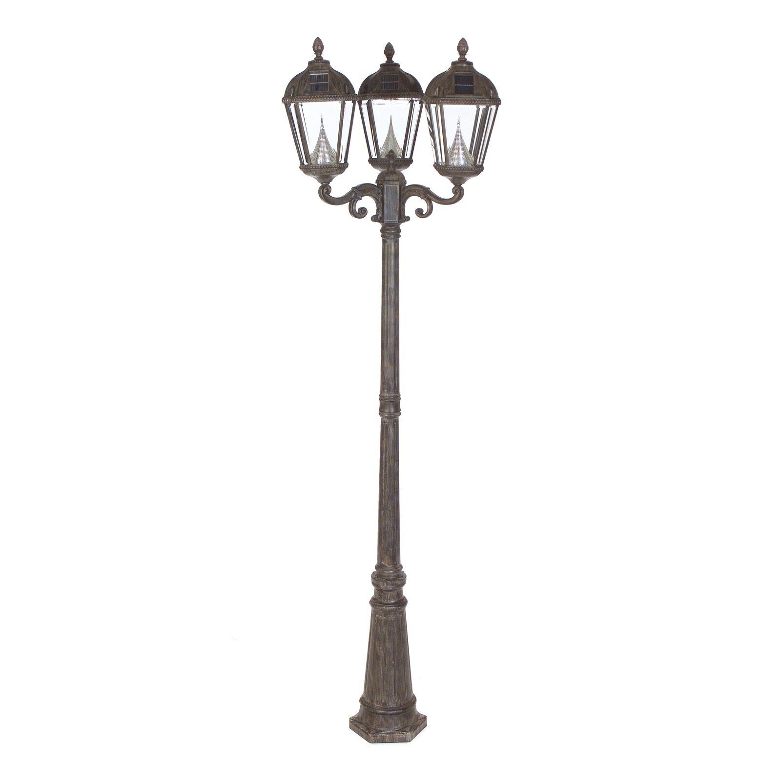 Superior Gama Sonic Royal Triple Light Solar Lamp Post   Walmart.com