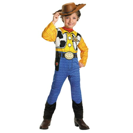 Disney Toy Story Toddler & Little Boys Woody Costume & Cowboy Hat 4-6 (Toy Story Woody Costume)