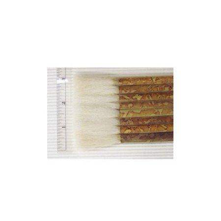 Yasutomo Sheep Hair Short Bamboo Handle Hake Brush, 2-1/2 in