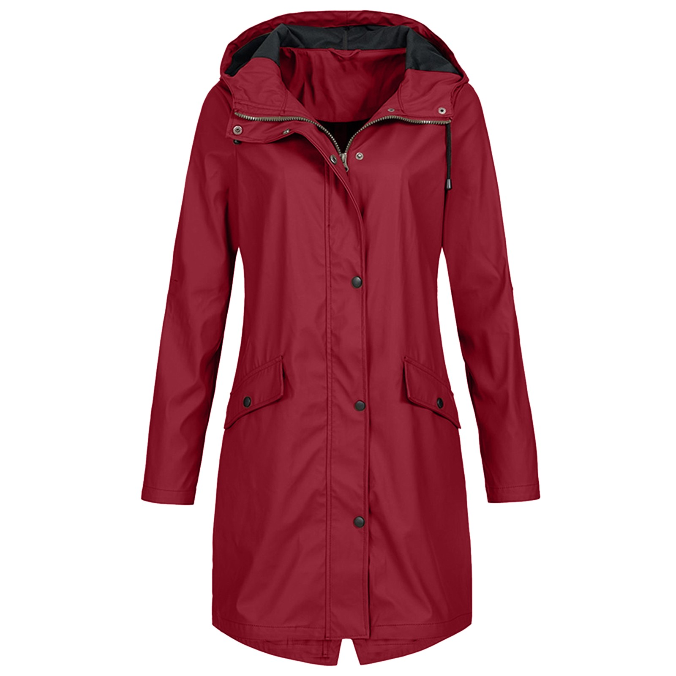 Ladies Pink Long Sleeve Wind Jacket Outdoor Waterproof Rain Coat  UK 14 UK 16