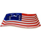 KitchenWorthy Patriotic Chip and Dip Platter- 6 Pk (6 Units Included)