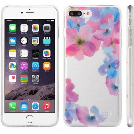 Mundaze Apple iPhone 7 Plus TPU Watercolor Enchanted Flowers Pink, - Pink Watercolor Flowers