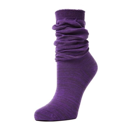 MeMoi Joli Jeweltone Scrunched Crew - Fun Slouched Socks for Women by MeMoi One Size 9-11 / Blackberry Cordial MF7 556](80s Slouch Socks)