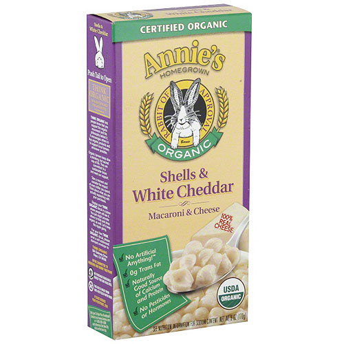 Annie's Homegrown Shells & White Cheddar Macaroni, 6 oz (Pack of 12)