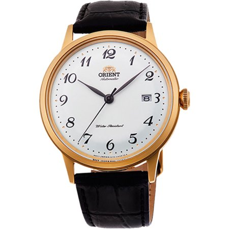 Orient RA-AC0002S10A Men's Bambino Version 5 Leather Gold Tone Automatic
