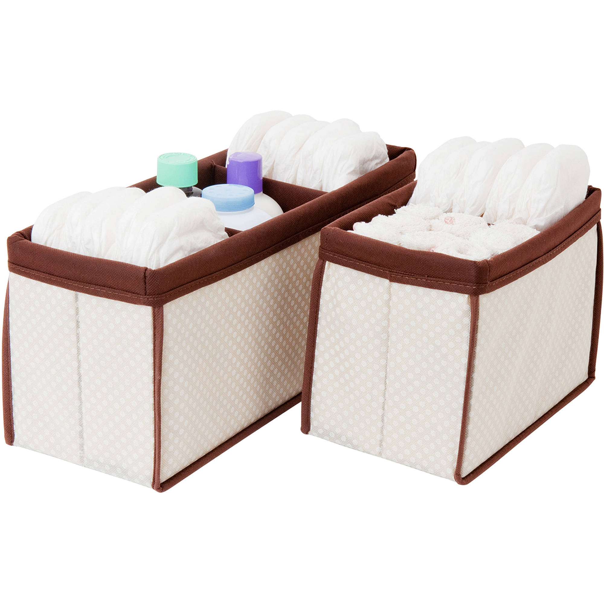 Nursery Organizer Bins, Set of 2, Choose Your Color