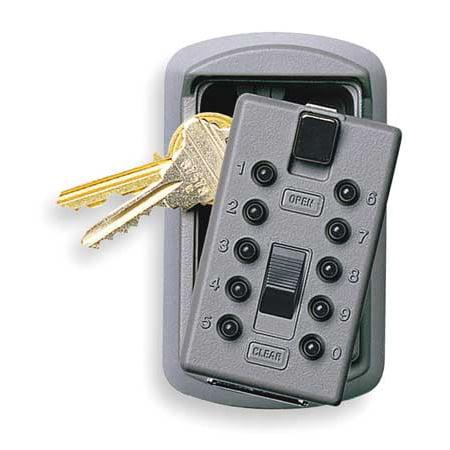 Kidde AccessPoint 001170 KeySafe Original Slimline Push Button Combination Permanent Key Lock Box, 2-Key, Gray