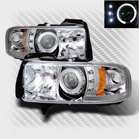 1994 2001 Dodge Ram Halo Led Projector Headlights Head Lights Lamp Set Pair Left Right 1995 1996 1997 1998 1999 2000