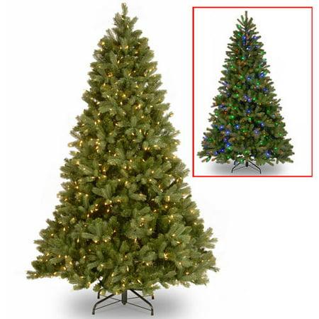 7.5' Downswept Douglas Fir Tree with Dual Color LED Lights ()