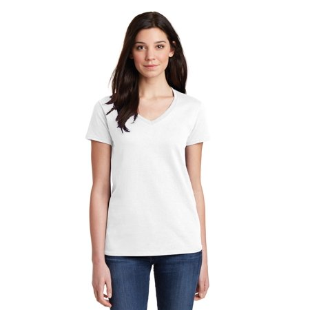 Gildan Ladies Heavy Cotton 100% Cotton V-Neck - 100 Cotton Ladies Tee