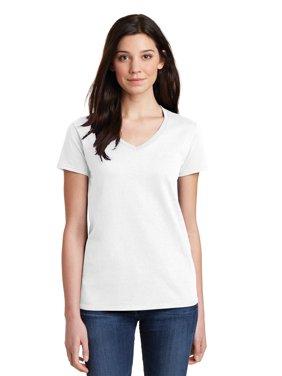 e10a3e7e7 Product Image Gildan Women's 100 Percent Cotton Short Sleeve V-Neck T-Shirt  - 5V00L