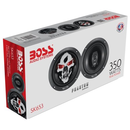 "Boss Audio Phantom Skull 6.5"" 3-Way 350W Full Range Speaker"