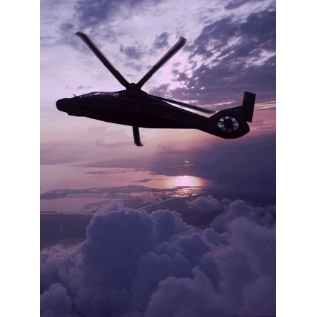 Rah 66 Comanche Model - Laminated Poster Comanche Helicopter Boeing Sikorsky Rah Poster Print 24 x 36