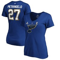 Alex Pietrangelo St. Louis Blues Fanatics Branded Women's 2019 Stanley Cup Playoffs Authentic Stack Name & Number V-Neck