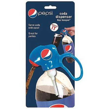 Jokari Pepsi Modern Soda Dispenser & Fizz Keeper - for 2 liter Pop Bottles