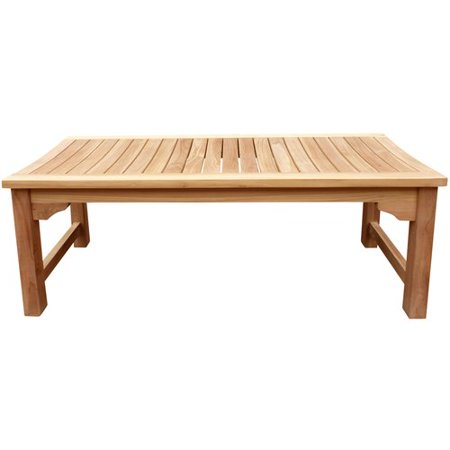 Highland Dunes Costello Backless Teak Garden Bench