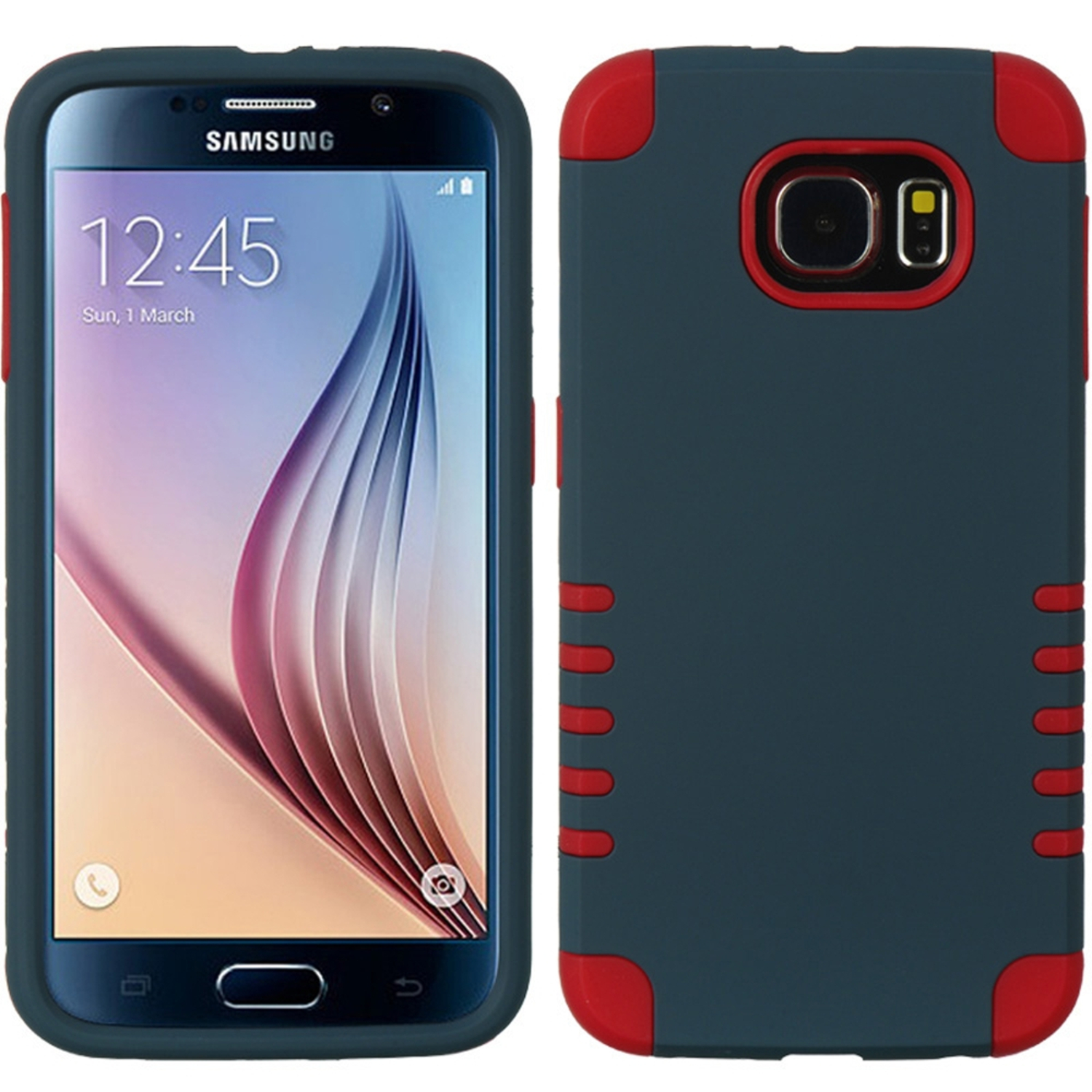 Samsung Galaxy S6 Case, by Insten 3 Pieces Hybrid Dual Layer Hard Plastic/Silicone Back Cover Case for Samsung Galaxy S6