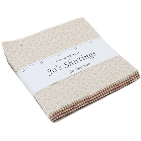 Cotton Shirting Fabric - Jo's Shirtings Moda Charm Pack by Jo Morton; 42 - 5