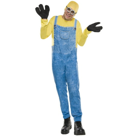 Minions Movie Minion Bob Men's Adult Halloween Costume, 1 Size](Silent Bob Costume)