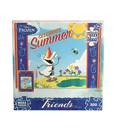 Peaceable Kingdom Press Frozen Disney Friends Celebrate Summer Puzzle (300 Piece) - Frozen Halloween Drinking Game