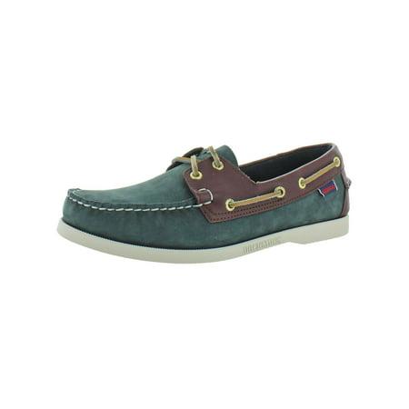 Sebago Mens Spinnaker Nubuck Slip On Boat Shoes