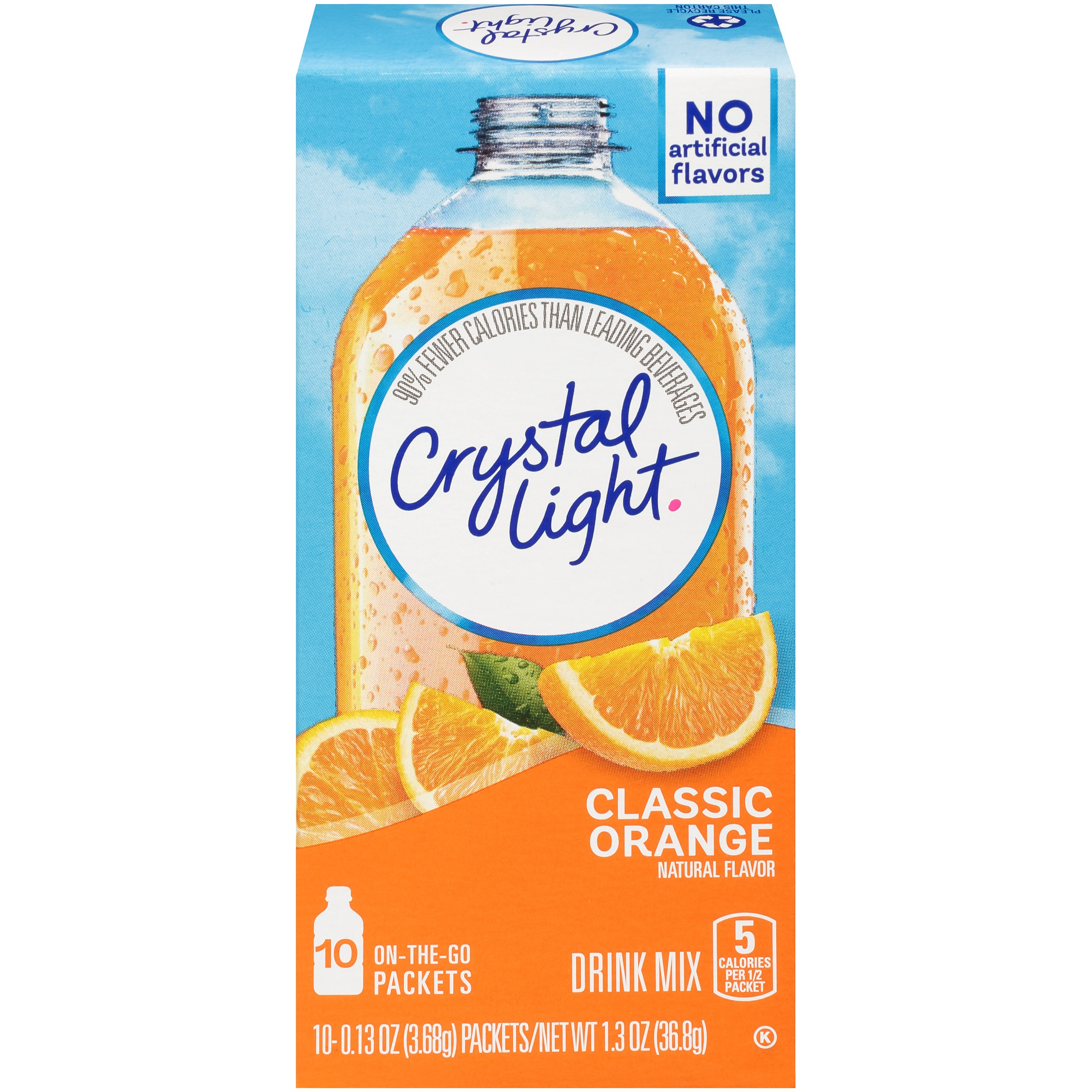 Crystal Light On-the-Go Classic Orange Drink Mix 10 ct Box