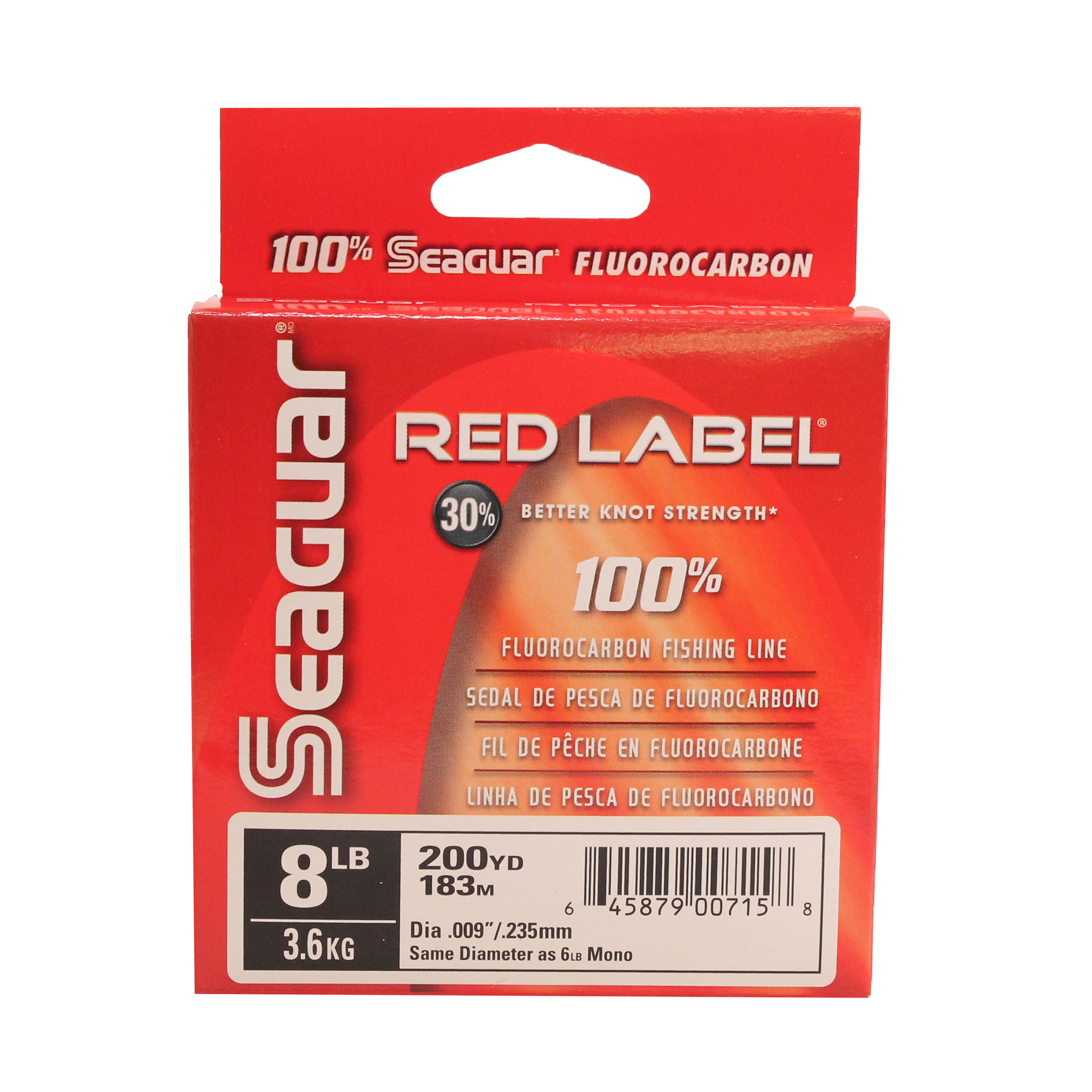 Seaguar Red Label 100% Fluoro 200yd 10lb 10RM250 - Walmart.com