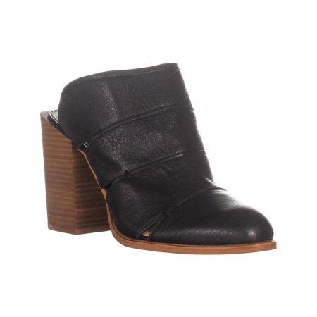- Womens Dolce Vita Makeo Mule Pumps, Black Leather, 8 US