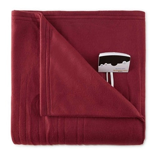Biddeford Pure Warmth by  Fleece Electric Heated Blanket Twin Red
