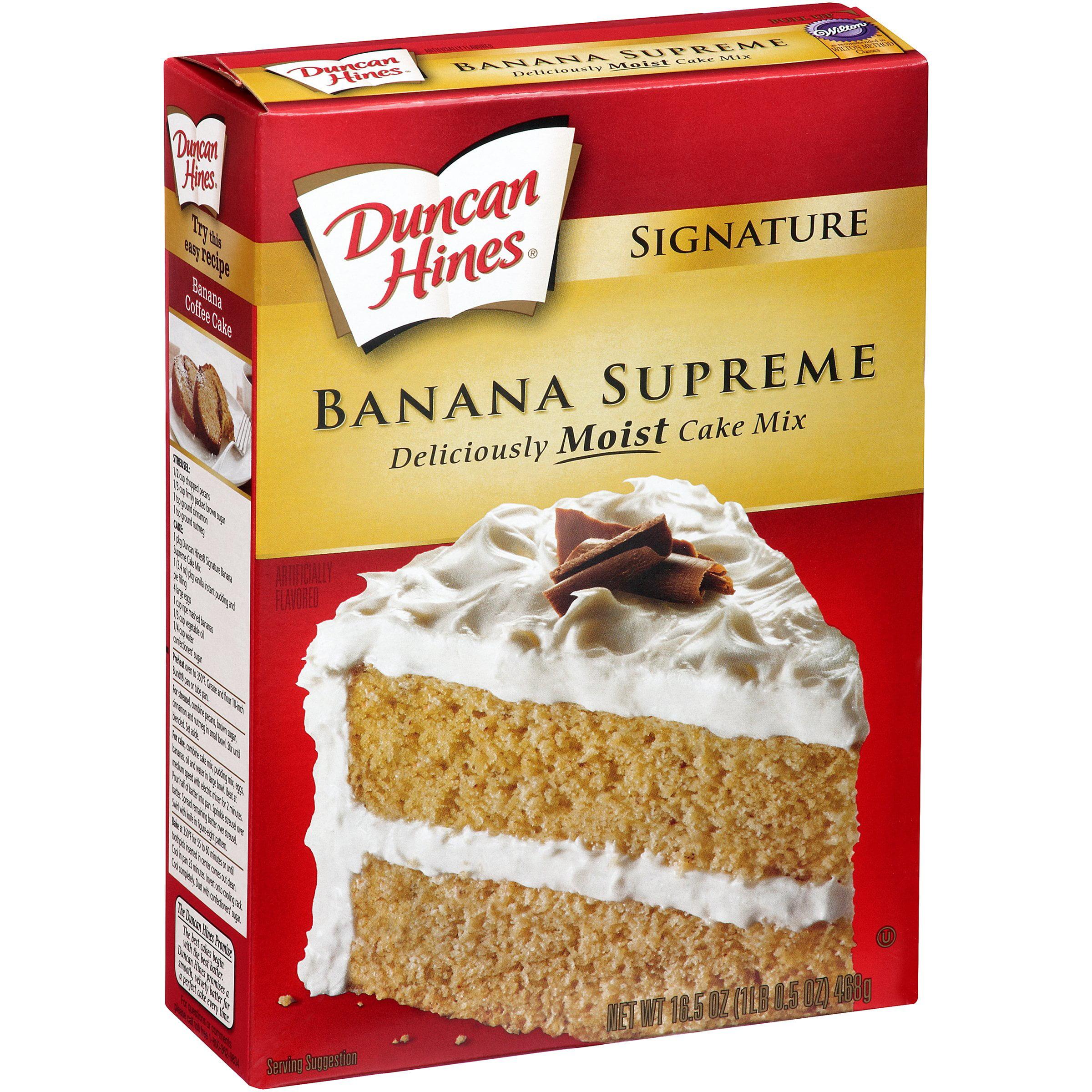 Duncan Hines Signature Banana Supreme Cake Mix 16.5 oz. Box by Pinnacle Foods Group, Llc
