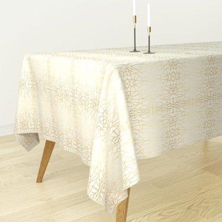 Tablecloth Gold Glitter Gold Ivory Jennifer Latimer Geometric Art Cotton Sateen - Walmart.com