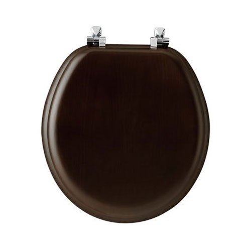 Bemis 9601CP Natural Reflections Wood Round Toilet Seat, Available in Various Colors by Bemis