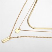 Dainty Choker Pendant Gold Layered Necklace Long Chain Multilayer Necklace Set Jewelry for Women Lady Girls Gift Jewelry