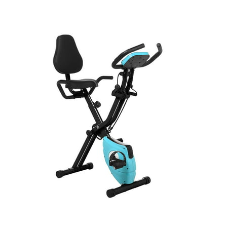 Folding 10 Levels Magnetic Resistance Upright Exercise Bike With Backrest Pad (Low Upright Backrest Pad)