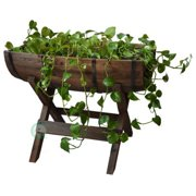 Half Barrel Planter with Stand
