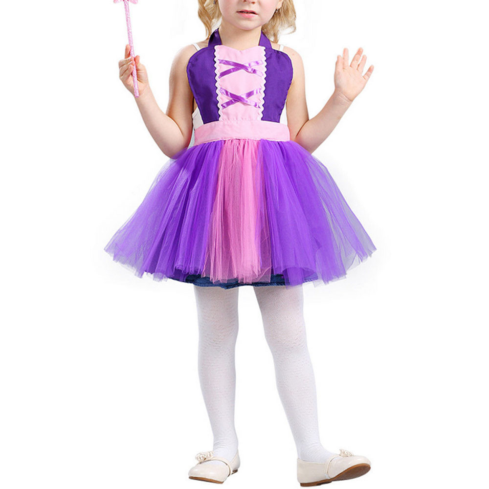Little Girls Princess Dress Costume Kids Girls Princess Costume Fairytale  Lace Party Birthday Dress Colorful 3,5 Years