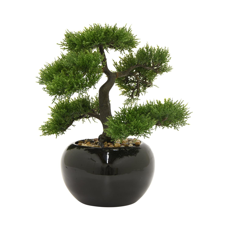 Three Hands 39275 Green Faux Bonsai Pot by Bonsai Trees