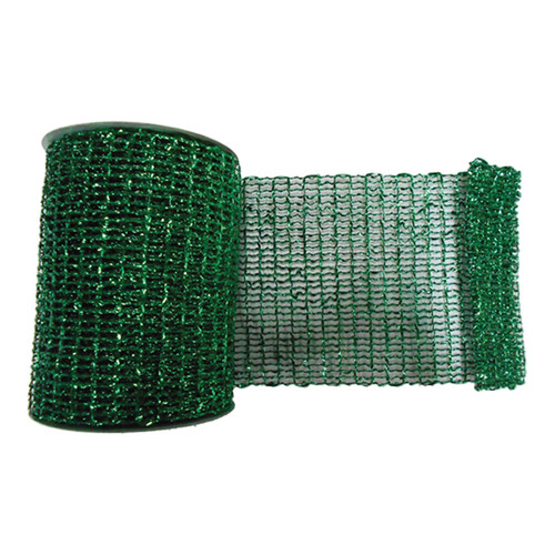 The Holiday Aisle Metallic Wired Mesh Ribbon