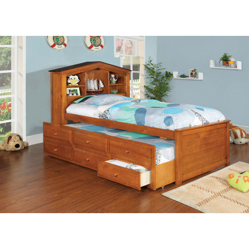 Hokku Designs Princeston Platform Captain Twin Bed with Trundle