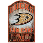 Anaheim Ducks WinCraft 11'' x 17'' Fan Cave Wood Sign