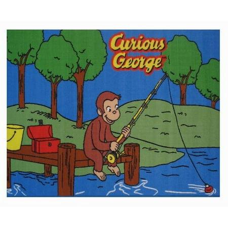 Fun Rugs Curious George Fishing 19
