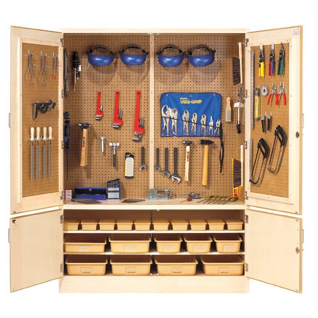 Diversified Woodcrafts TC-4 Pegboard Tool Storage Cabinet with Holders