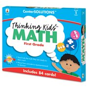 CenterSOLUTIONS Thinking Kids Math Cards, Grade 1 Level, Sold as 1 Each by