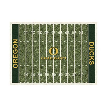 - College Home Field Oregon Area Rug-Color:Home Field,Material:Nylon,Size:3'10