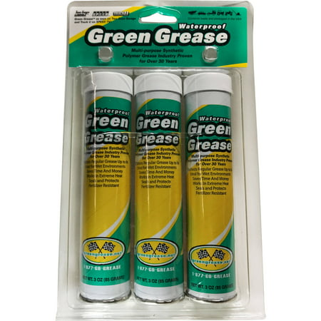 Non Greasy Light - Omni Lubricants Waterproof Green Grease, Three 3 oz Cartridges