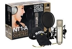 Rode NT1 A 15th Anniversary Limited Edition Studio Condenser Recording Microphone Package includes Shock Mount XLR Cable Pop Shield and DVD